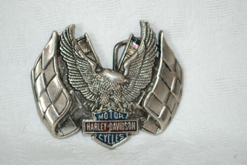 Harley-Davidson Belt Buckle by Baron ©1983 Eagle with Wings Spread Solid Brass