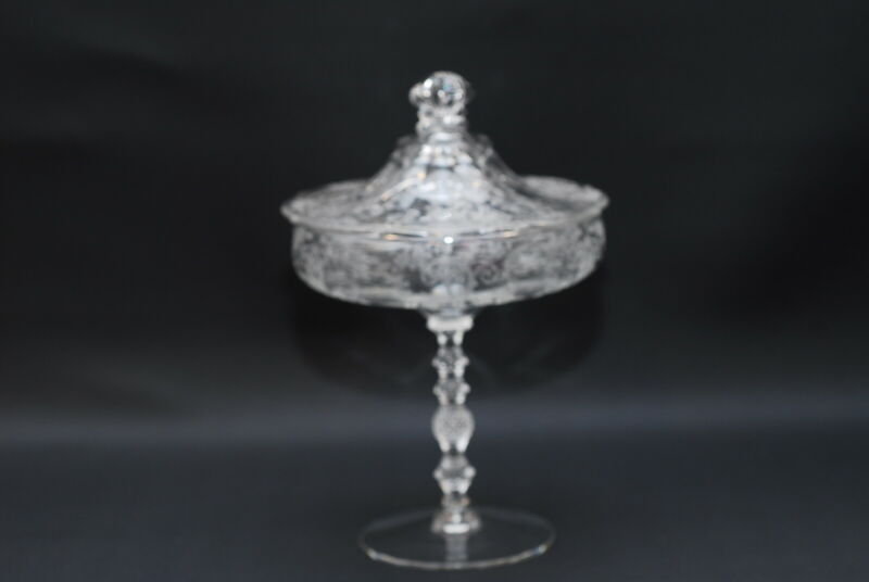 Cambridge Diane #3500 Comport / Candy Dish & Lid