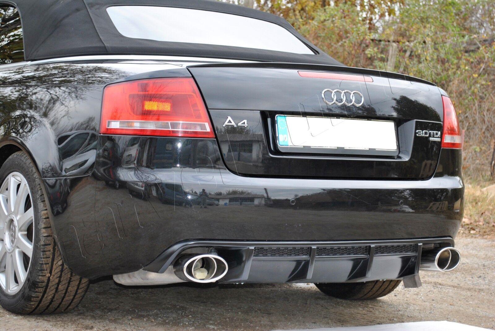 Details About Audi A4 B6 B7 02 08 Cabriolet Rear Bumper Diffuser Spoiler