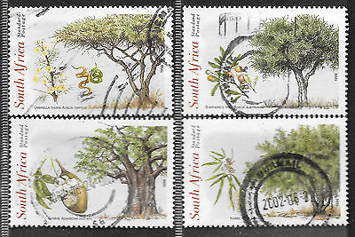 SOUTH AFRICA 1998 INDIGENOUS TREES OF SOUTH AFRICA COMPLETE POSTAL USED SET 723