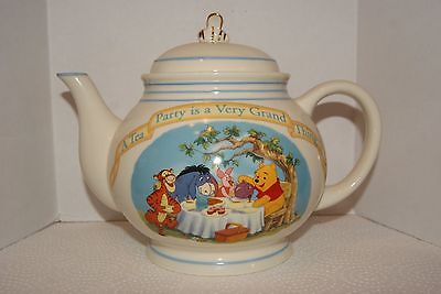 The Pooh Pantry Teapot by Lenox Collections - w/COA -No Box-See Photos & Details