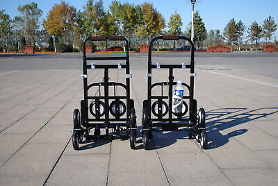 Foldable Climbing Cart Hand Truck Carbon Steel Trolly With 2 Spare Tires 4 Hooks