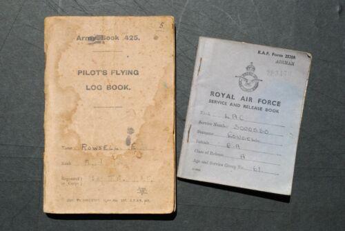 1918 RAF Pilot Flight Logbook + Son
