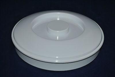 1 Dz  Tortilla Warmer 8-14 Dia 1-14 Deep White Melamine With Lid 608