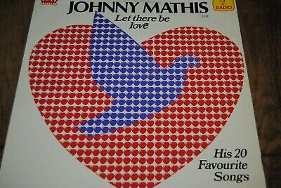 """JOHNNY MATHIS """"Let There Be Love - His 20 Favourite Songs"""" LP VINYL / CROWN H61"""
