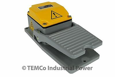 TEMCo Heavy Duty Cast Aluminum Foot Switch 15A SPDT Electric Pedal Momentary New