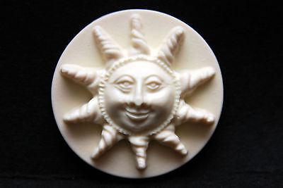 Sun face, Silicone Mold Chocolate Polymer Clay Jewelry Soap Melting Wax Resin