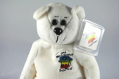 USA RONALD McDonald House Collectable Beanie Bear in CAMP Ronald McDonald Livery