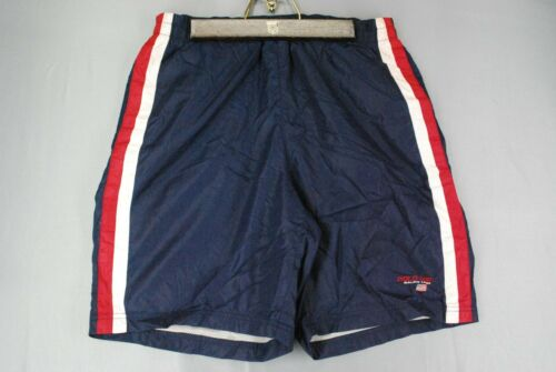 Vintage 90s Polo Sport Ralph Lauren Striped Swim Trunks Board Shorts Blue Mens M