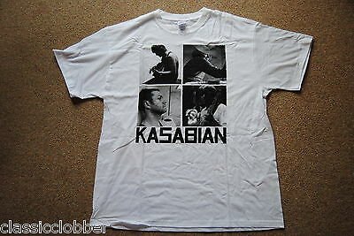 Kasabian T-shirts - KASABIAN BAND B&W SQUARES T SHIRT NEW OFFICIAL EMPIRE WEST RYDER VELOCIRAPTOR