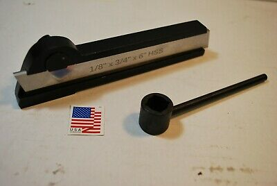 Lathe Cut Off Parting Tool Includes 6 Hss Blade Usa Shipped