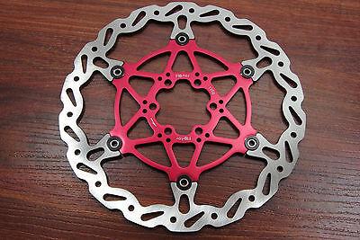 Ashima Flotor Floating Mountain Bike Disc Brake Rotor MTB 180mm RED 180 mm