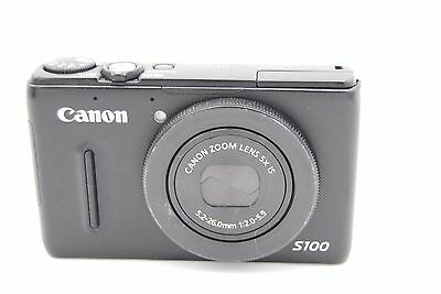Canon Powershot S100 12.1MP Digitalkamera - Schwarz (Canon S100)