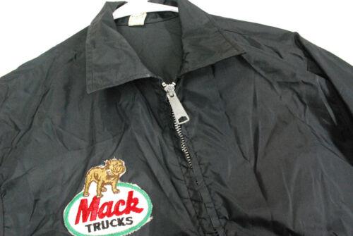 Vintage 70s Mack Trucks Windbreaker Jacket LOUISVILLE Sportswear Black Mens M