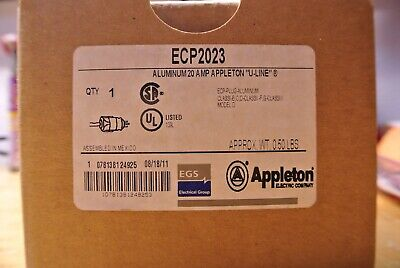 Appleton Ecp-2023 125v 20a Explosion Proof Industrial Electrical Plug