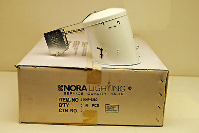 Case Of 6 Nora Lighting Nhr-926q Sloped Remodel Housing Recessed Can Non-ic