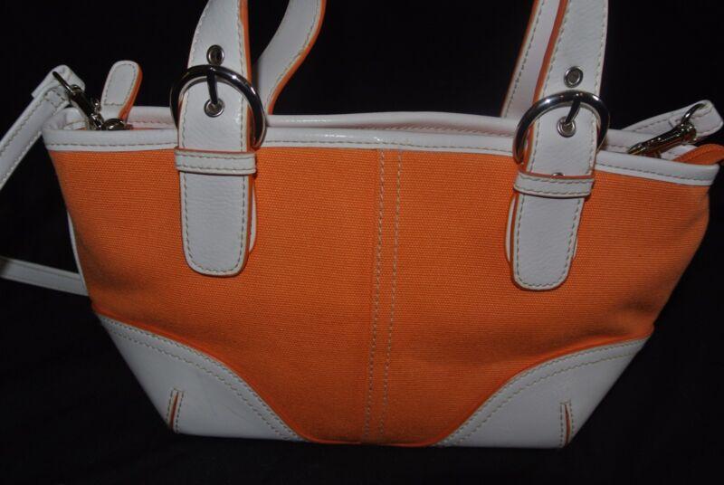 Summer Orange Canvas Handbag/purse by Sonoma, small to medium size