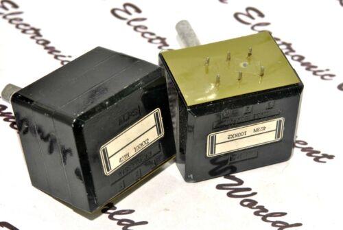 1pcs-ALPS RK40 100K Log Black Beauty Audio Potentiometer Half Shaft - 423N Used