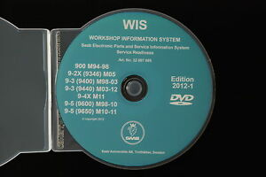 2012 SAAB WIS 900 9-2X 9-3 9-4X 9-5 Workshop Service Repair Manual EPSI NEW