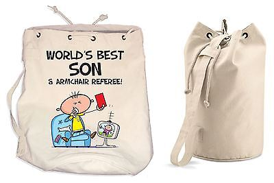 Worlds Best Son Birthday Adjacent Duffle Backpack Bag - Family Gifts