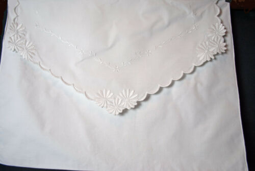 Antique Pillowcases Envelope Pillow Shams Whitework Embroidery Flowers And Vines