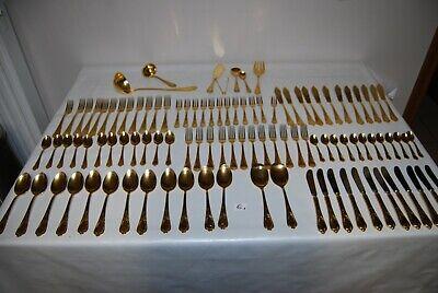 E1 Ménagère de 105 pièces - Solingen - 18-10 - 22.23 carats hartvergold Wien