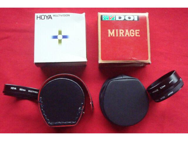 DOI MIRAGE 52mm 5R, HOYA UV[0], HOYA Multi-vision, Lens, JAPAN, Cases, Box