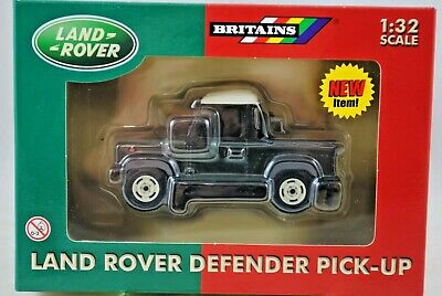 1:32 Britains 40920 LAND ROVER DEFENDER 90 Pick-up Vehicle Metallic GREEN Color