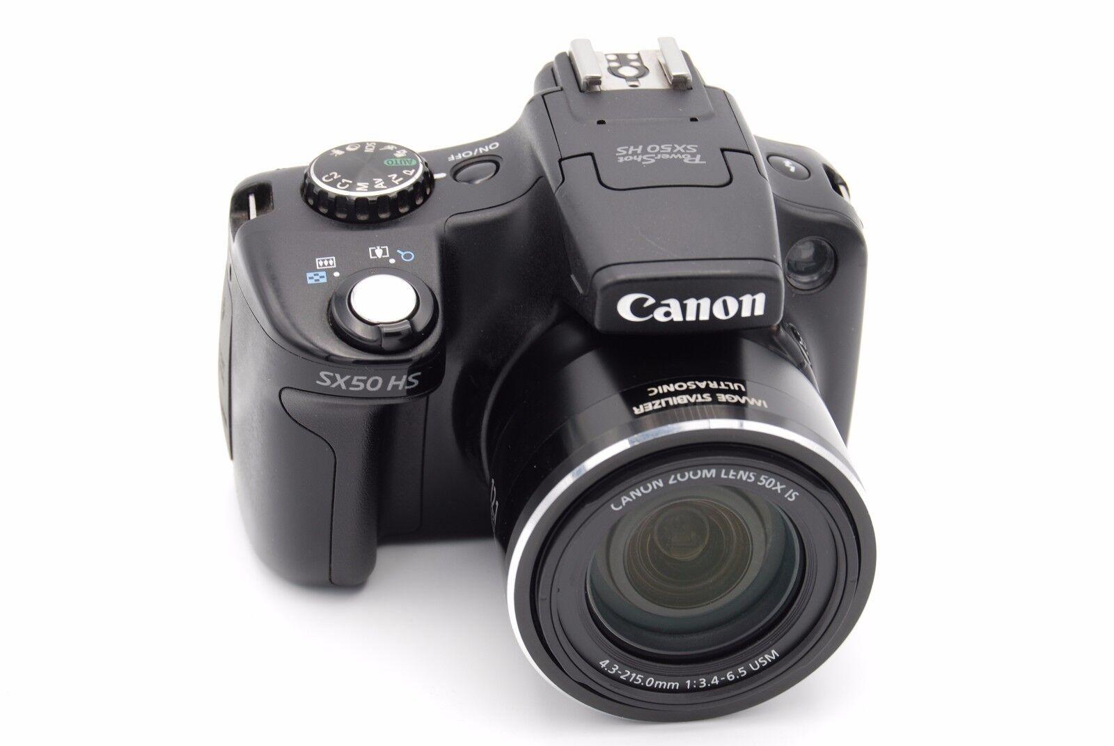 canon powershot sx50 hs 12 1 mp digital camera 50x optical zoom black 13803157192 ebay. Black Bedroom Furniture Sets. Home Design Ideas