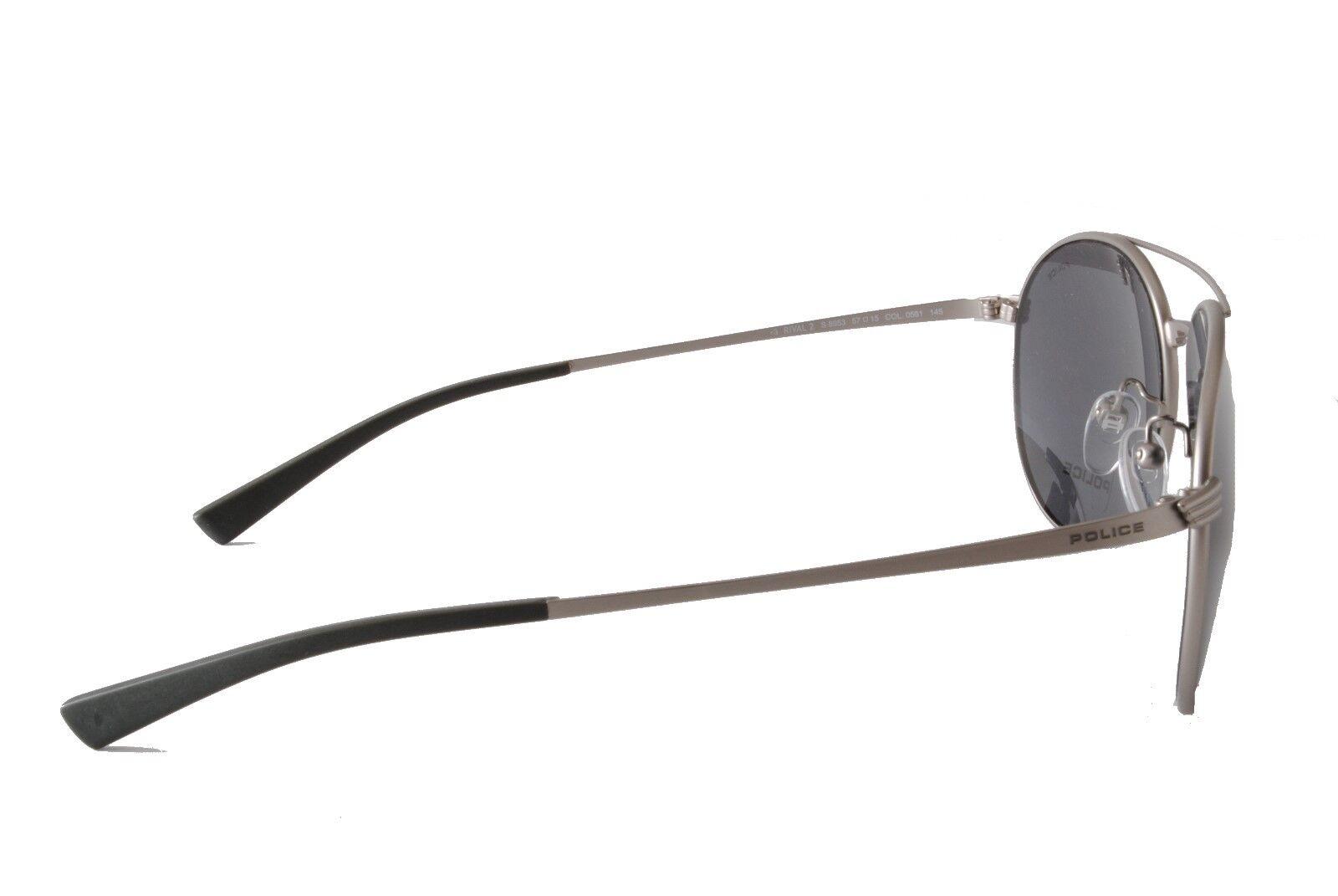 Police Sunglasses S8953 Rival 2 0581 Matt Silver Grey