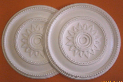 *Decorators Bargain* - 2 x Polystyrene Ceiling Rose 400mm ^Slightly Shop Soiled