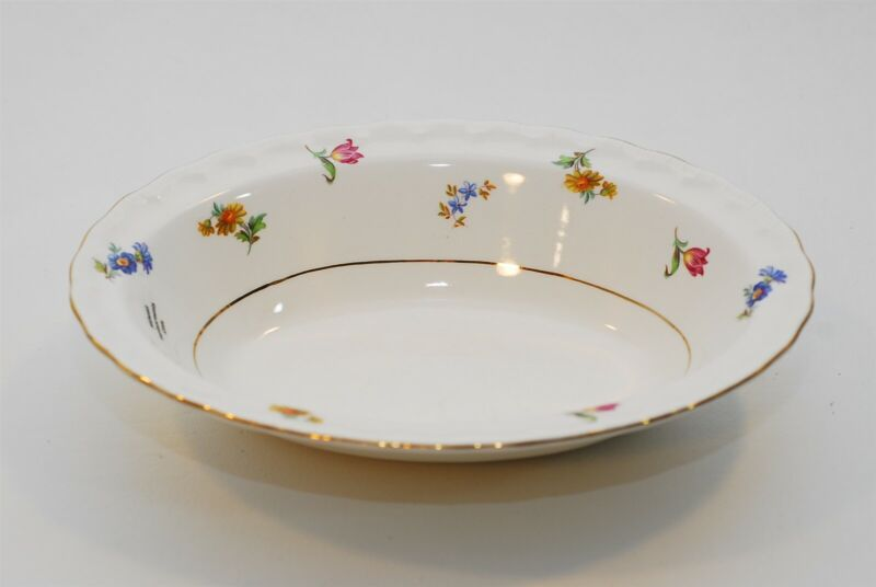 Pope Gosser Pinafore Oval Vegetable Bowl 9.75 Inch