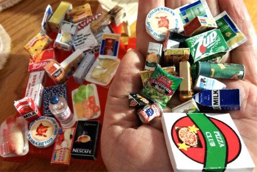 Kitchen Refrigerator Fridge Accessories 15Pc Dollhouse FOOD ONLY 1:12 Miniature