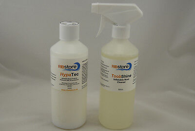 RIB Dinghy Inflatable Boat Cleaner & Protector Kit COMBI ToobShine + HypaTec
