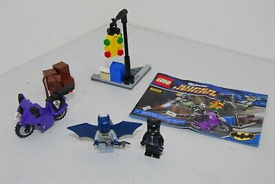LEGO # 6858 DC UNIVERSE SUPER HEROES BATMAN, CATWOMAN CYCLE CITY CHASE, COMPLETE