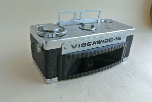 Viscawide 16 ST-D  16mm panoramic subminiature camera + film spools, Excellent