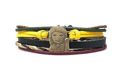 Emoji Bracelet Information Desk Person Handmade