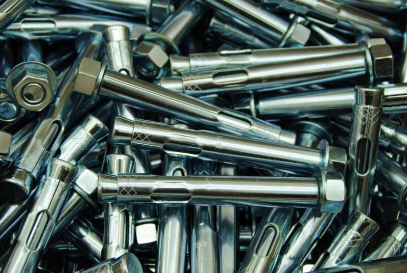 """(10) Concrete Sleeve Anchors 5/8 x 4-1/4"""" Includes Nuts & Washers Expansion Bolt"""