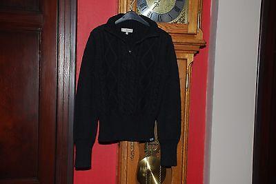 """Pull noir à tirette laine/acrylique de marque""""WE Women""""Taille M Très Bon Etat!"""