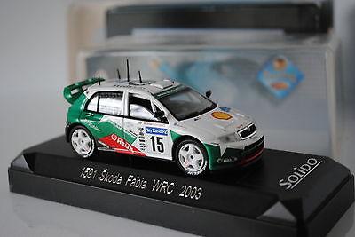 SOLIDO REF 1591 SKODA FABIA WRC 2003 NEUF EN BOITE MINIATURE 1/43