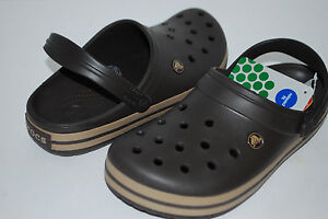 NWT CROCS CROCBAND ESPRESSO brown KHAKI GREEN 4 5 6 7 8 9 10 11 12 13 CLOGS shoe