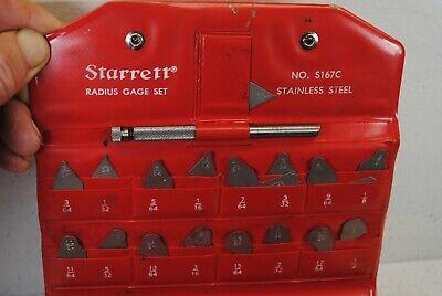 Starrett No.s167c Radius Gage Set