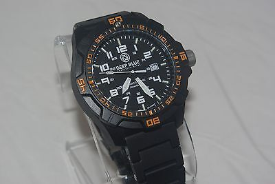 DEEP BLUE DAYNIGHT TRITIUM DIVE WATCH WITH  POLY BRACELET & EXTRA SILICONE STRAP