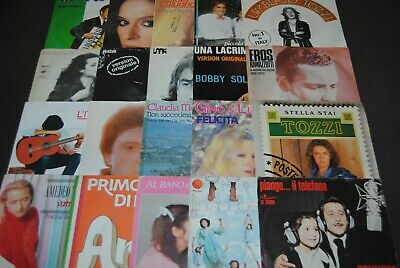 "LOT 20 X 7"" SINGLE VINYL *POP ITALIENNE* DISQUES 45 TOURS / 45 TOEREN"