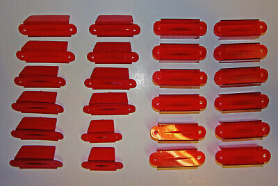 24 Assorted NOS Pinball Machine - TRANSLUCENT RED LANE GUIDES - New Parts Cheap!