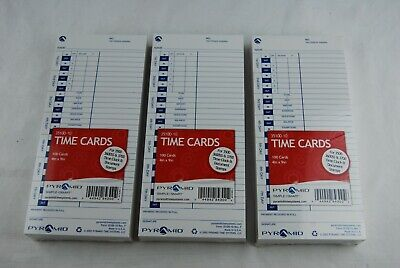 300pyramid Time Cards 4x9 35100-10 New 3 Packs100 Ea