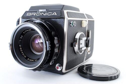 【EXC+++++】 Zenza Bronica EC Black 6x6 Nikkor P 75mm f/2.8 lens From JAPAN 1744
