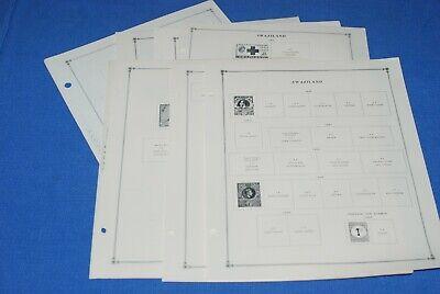 Swaziland 14 Pages Scott International Stamp Album to 1975 BlueLakeStamps Nice