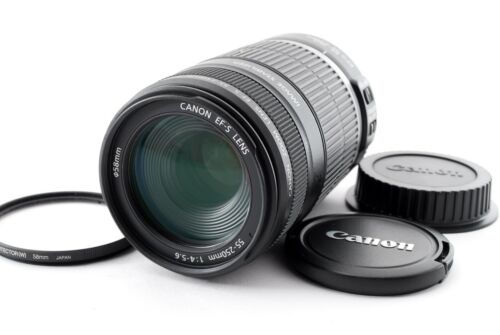 Canon EF-S 55-250mm F/4-5.6 IS Telephoto Zoom Lens w/Filter [Exc+++]Japan 726060