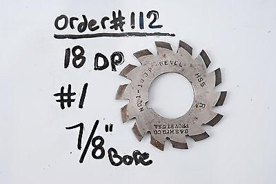 Gear Cutter 1 18dp 78 Bore - Bevel Usa Made 18 Dp 78 Arbor